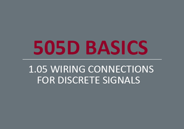 Wiring Connections for Discrete Signals