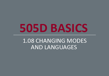Changing Modes and Languages