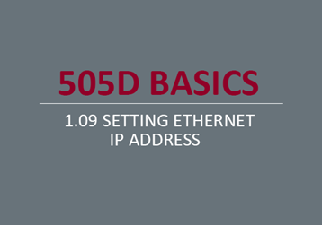 Setting Ethernet IP Address