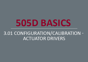 Configuration/Calibration - Actuator Drivers