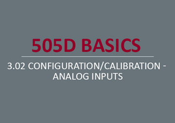 Configuration/Calibration - Analog Inputs