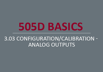 Configuration/Calibration - Analog Outputs