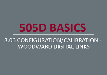 Configuration/Calibration - Woodward Digital Links