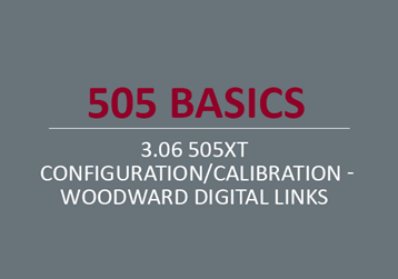 505XT  Configuration/Calibration - Woodward Digital Links