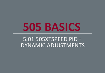 505XTSpeed PID - Dynamic Adjustments