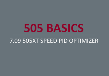 505XT Speed PID Optimizer